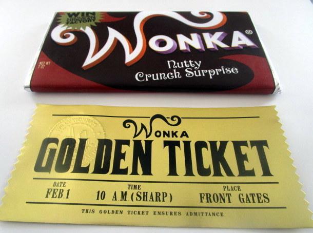 Modern Wonka Nutty Crunch Surprise Bar & Golden Ticket