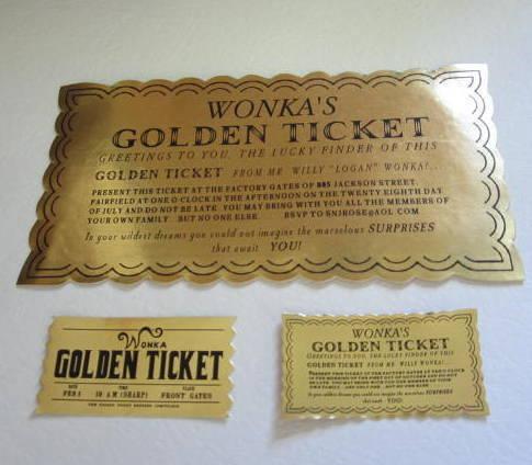 "Mini Classic & Modern Golden Tickets for 18"" Dolls"