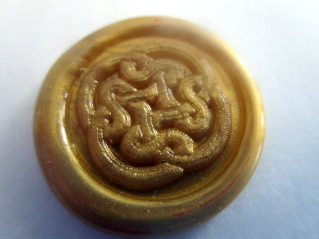 Gordian Knot wax seal for American wizarding school letter