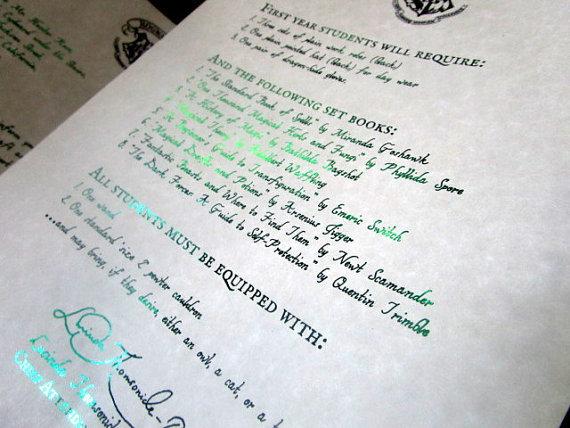 Magic Wizarding Acceptance Letter (British School) 00035