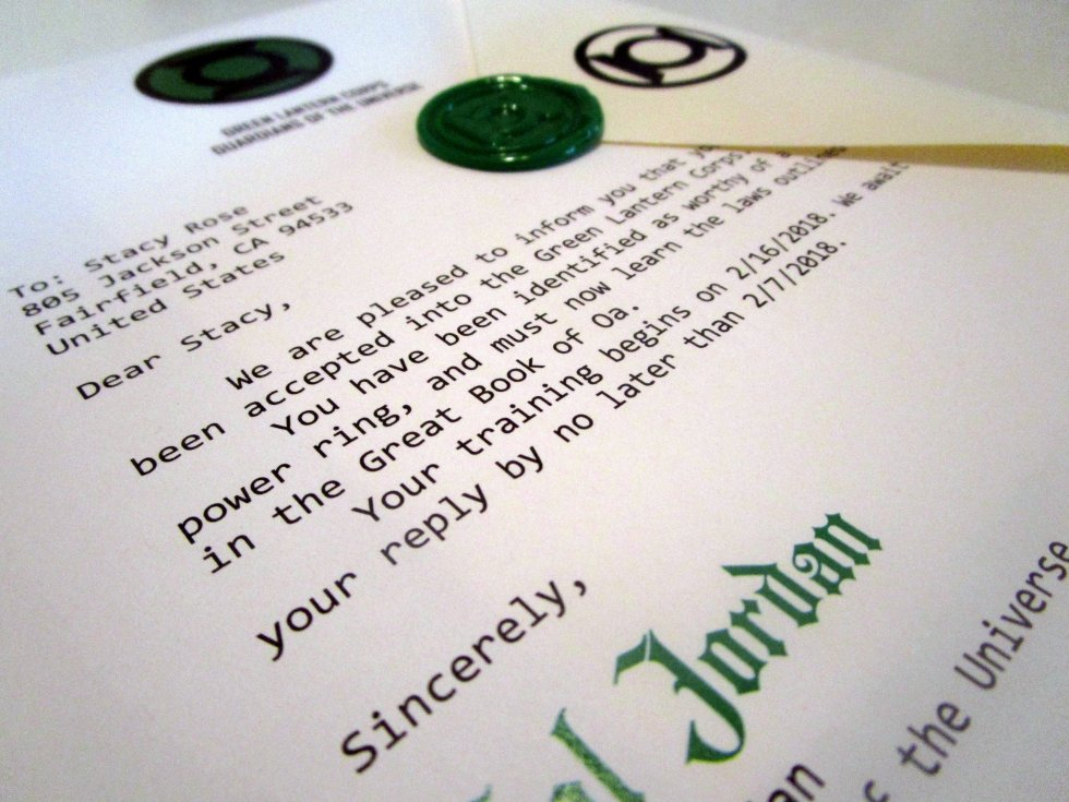 Green Superhero Corps Acceptance Letter 00051