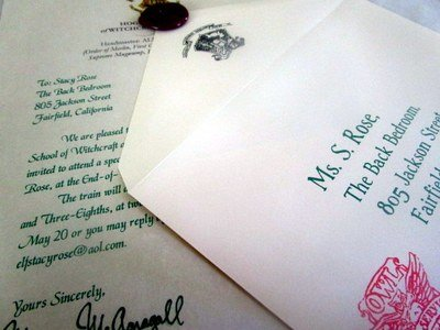 Wizarding Acceptance Letter Birthday Invitations 12 (British School)
