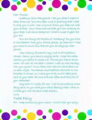 Letter from the Tooth Fairy