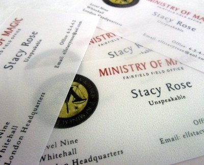 Wizarding Government Business Cards (10)