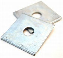 M10 Flat x 40mm  x 3.0mm Thick Square Washer Zinc   Pack of 10
