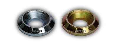 5.0mm Screw Size Solid Cup Washer Zinc & Yellow