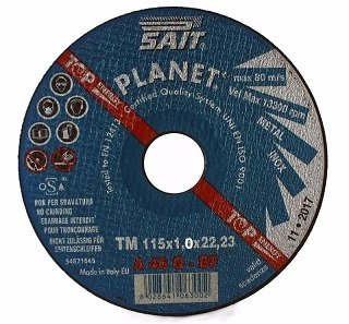 Sait Planet Cutting Discs Ultra Thin 1.0mm For Metal SAIT-PLANET-115-1mm