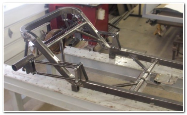 Frame brackets mounted on top of super low frame.