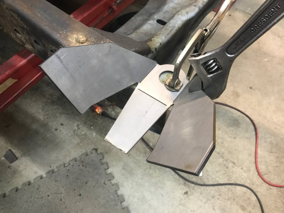 Fold with an adjustable wrench.