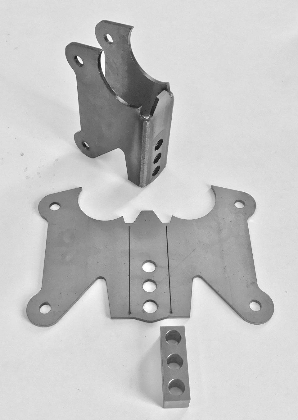 """Axle bracket for 2-13/16"""" tube 990215"""