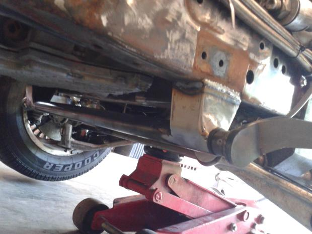 The outer tube was mounted in a fabricated bracket off the bottom of the frame rail.