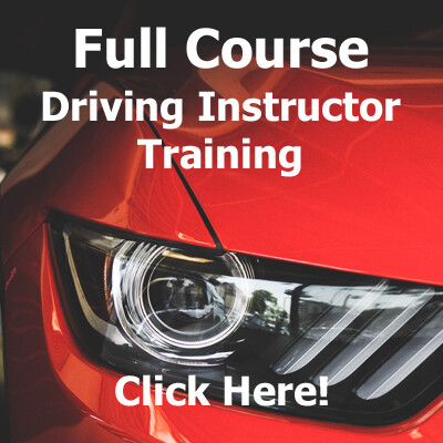 Driving Instructor Training Full Course (3 Instalments)