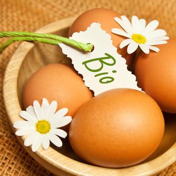 30 œufs frais bio code: 0