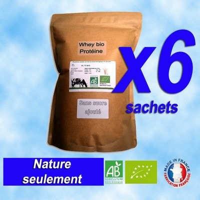6Kg PL75 Protéine Lait Native Bio (origine: France)