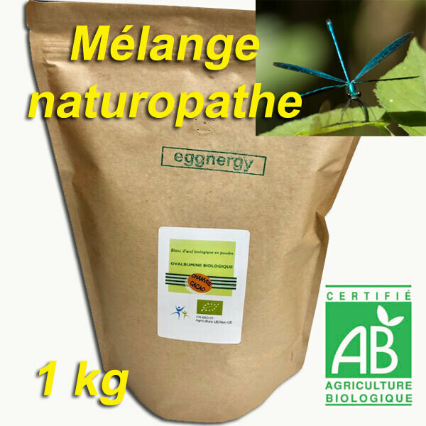 «Protéine du naturopathe»: 1 Kg (60% Protéines et sans sucre)