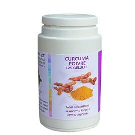 Curcuma + Poivre gélules - Extrait à 10 mg de pipérine