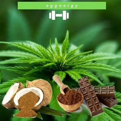 Protéines de chanvre, cacao et sucre de coco en 1 kg