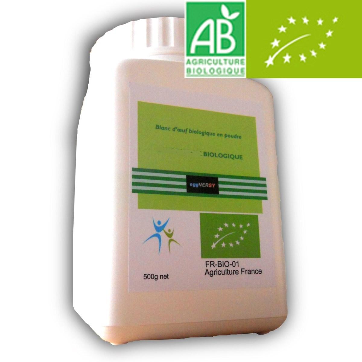 500 g Bio Code 0 Blanc d'œuf poudre.