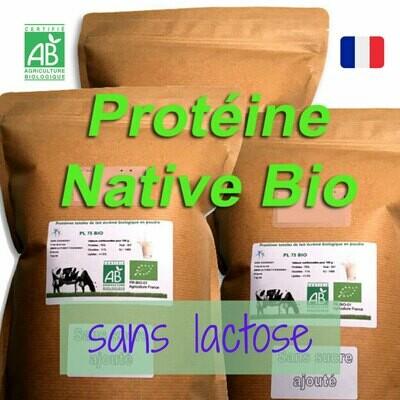 3 kg Protéine Lait Native Bio SANS LACTOSE (origine du lait: France)