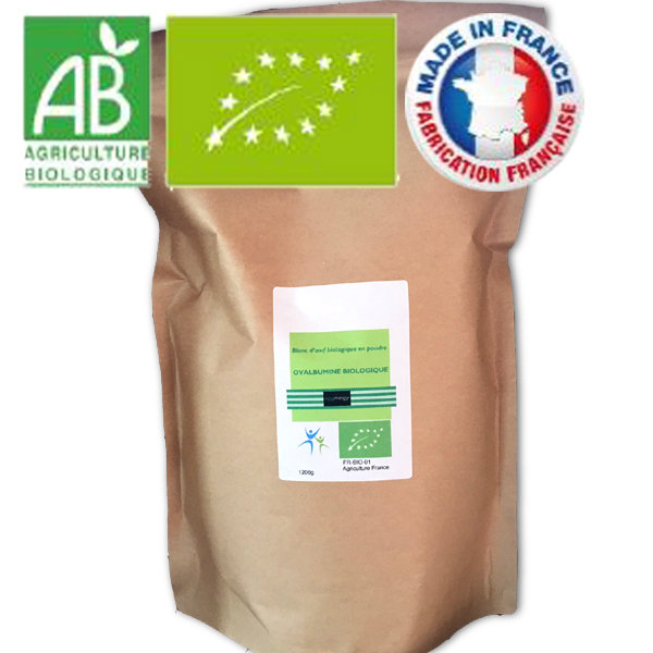 Livraison optimale: 1700g blanc d'oeuf bio (code 0) 00333