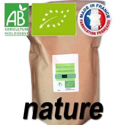 1200 g Code 0: Blanc d'oeuf bio en poudre (82% de protéines sans sucre)
