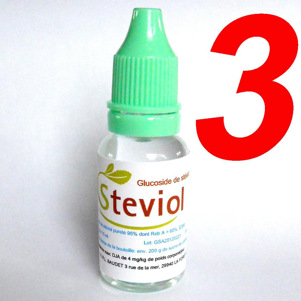Complétez votre commande avec 3 Extraits de stévia liquide 15 ml
