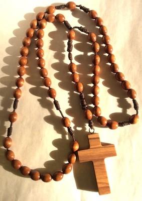 Rosario in legno