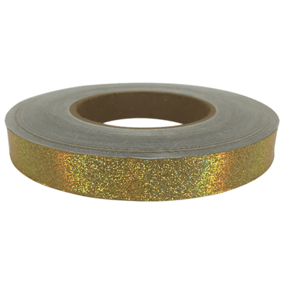 Holographic Tape, Gold Glitter