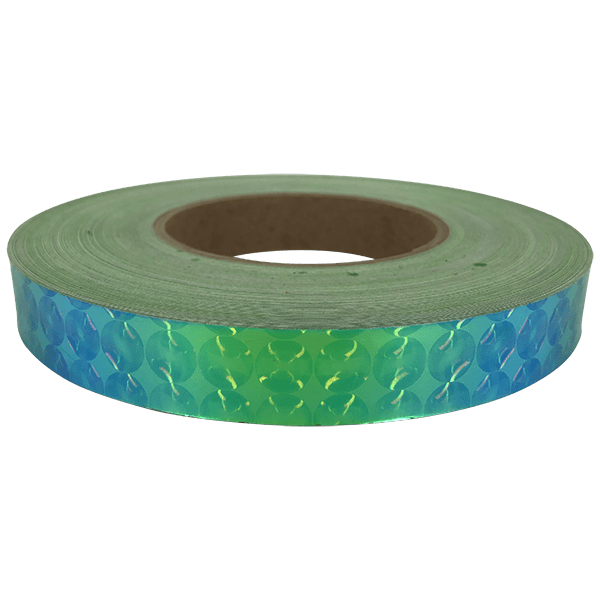 Exotic Holographic 3D Spiral - Emerald