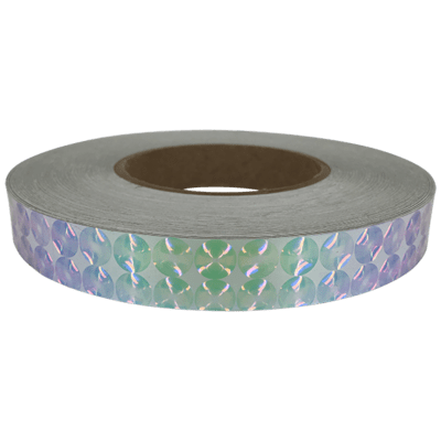 Exotic Holographic 3D Spiral - Silver Pink