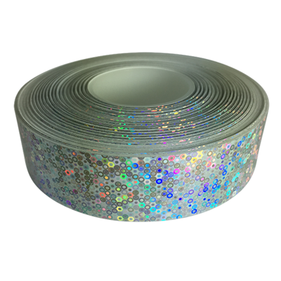 Holographic Tape, Silver Hoopios