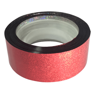 Budget Metallic Dust Tape, Red