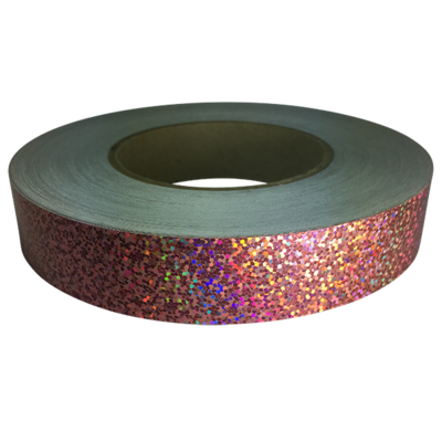 Holographic Sequin Tape, Pink Fizz