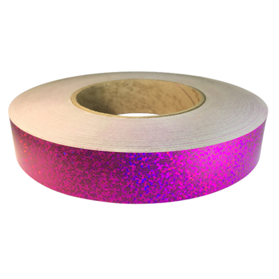 Holographic Sequin Tape, Raspberry