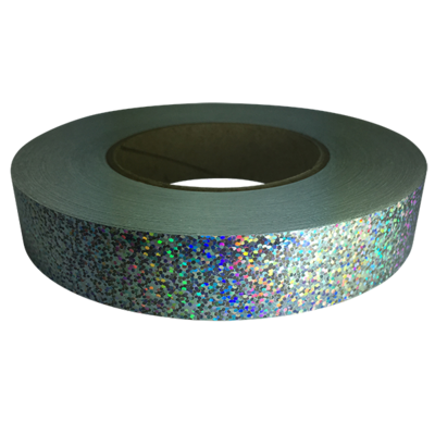 Holographic Sequin Tape, Silver