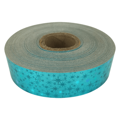 Holographic Star Tape, Aquamarine