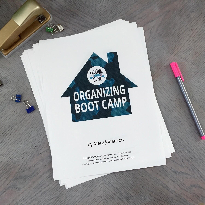 Organizing Boot Camp
