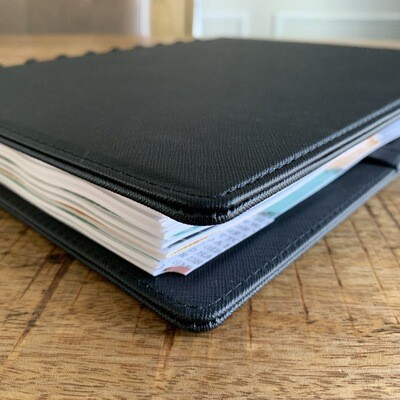 2020 Planner - Black Leather Cover (Large Size)