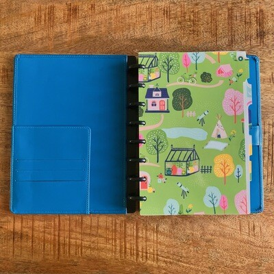 CLEARANCE * 2020 Planner - Blue Leather Cover (Personal Size)