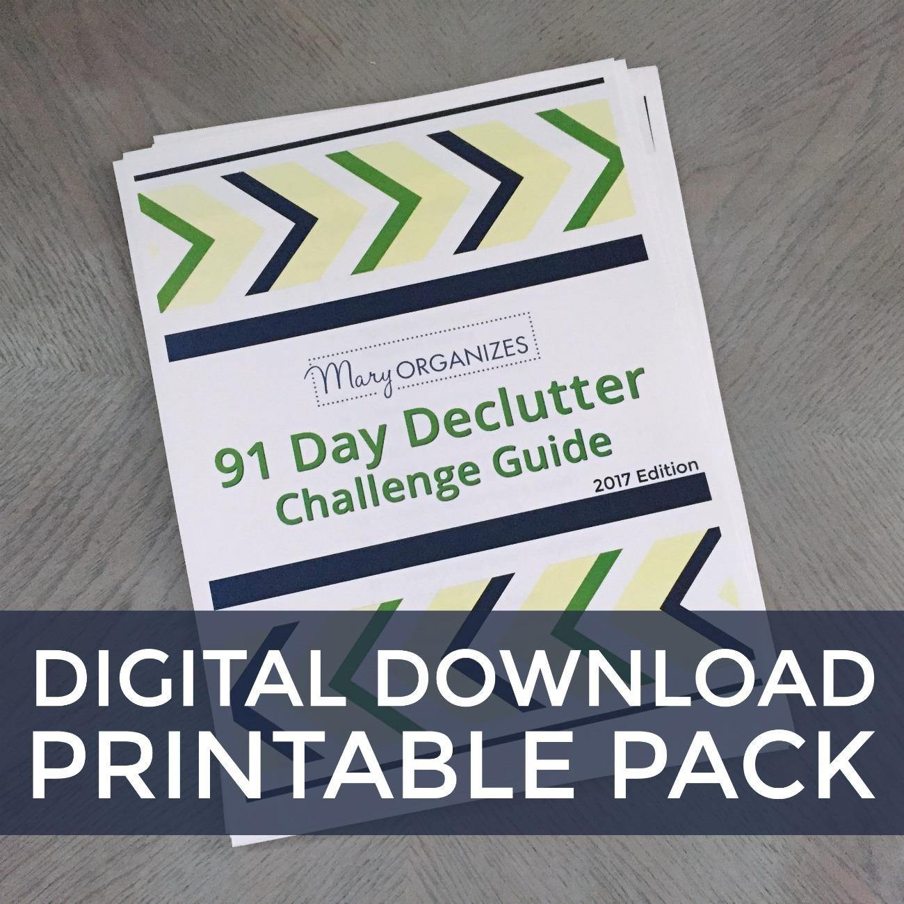 Declutter Challenge: Printable Pack Digital Download 00106