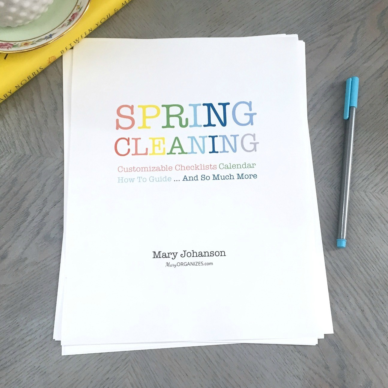 Spring Cleaning Pack: Calendar, Checklists, and More (customizable) 00111