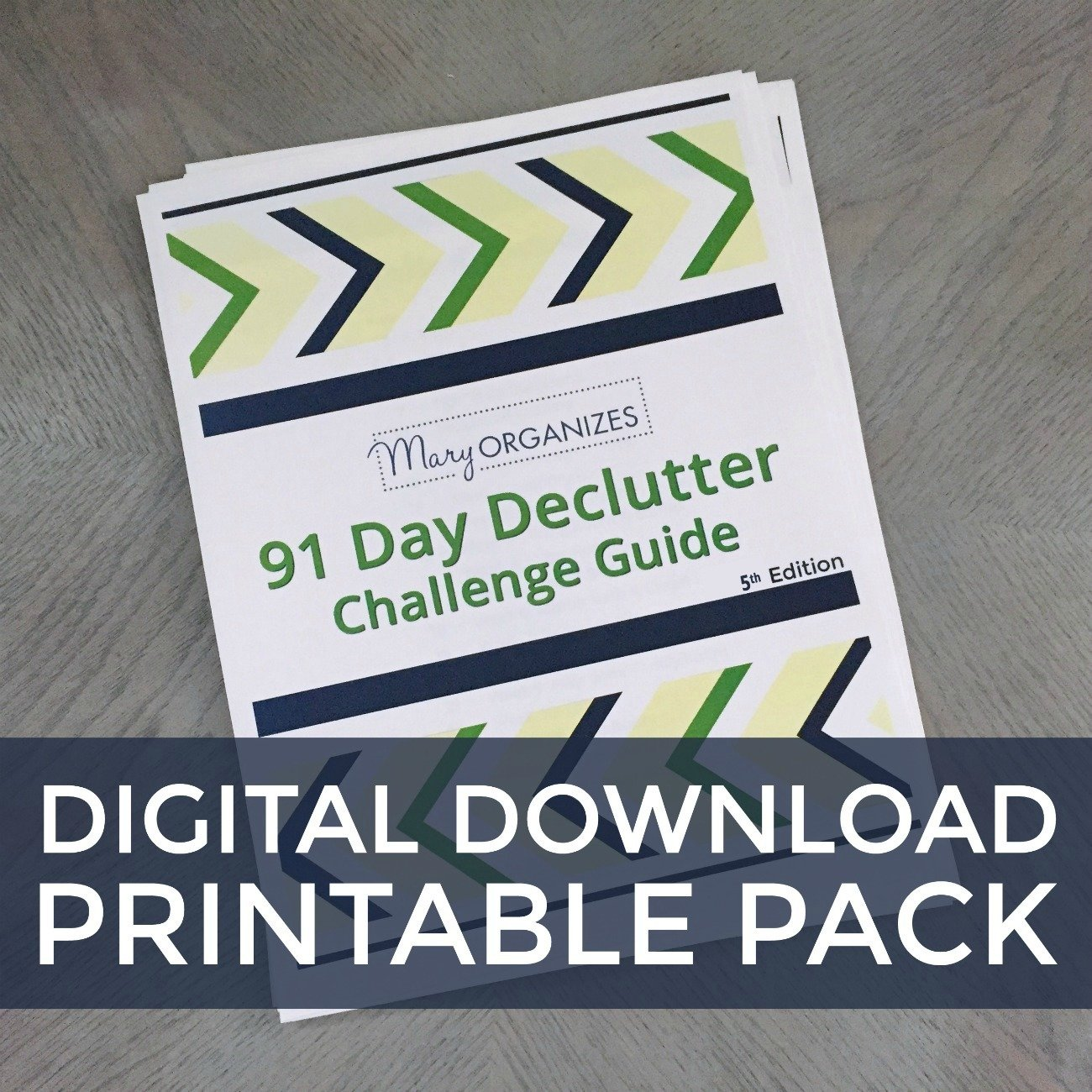 Declutter Challenge: Printable Guide & Calendar Digital Download 00149