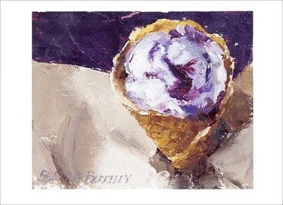 'Blueberry Goat Cheese Ice Cream' Notecard