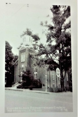 Cumberland Presbyterian Church in McMinnville TN Post Card