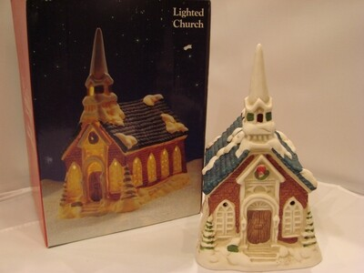 Heirloom Porcelain Lighted Church