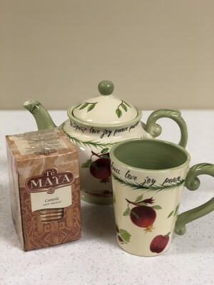 Fruits of the Spirit Teapot and Cup and Te Maya Tea Bags