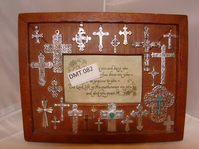 Frame with Silver Cross Decorations