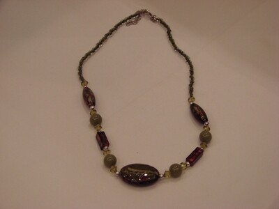 Mottled Beaded Necklace