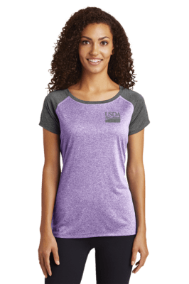Sport-Tek® Ladies Heather-On-Heather Contender™ Scoop Neck Tee
