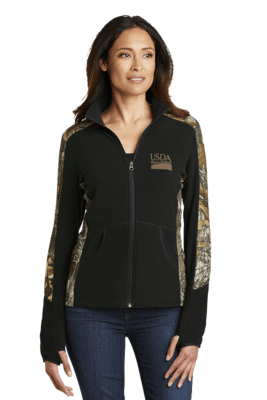 Ladies Realtree Camouflage Microfleece Full-Zip Jacket